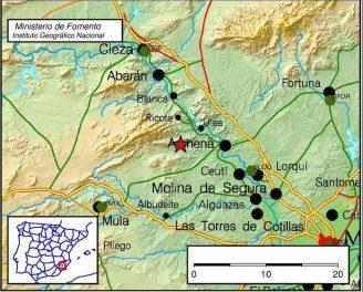 Un terremoto de 3 grados sacude el Valle de Ricote y Mula