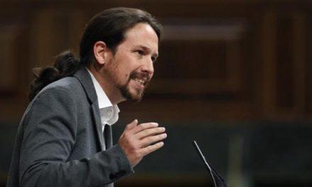 Pablo Iglesias: «Mientras Aznar disfruta de la libertad, algunos quieren que los independentistas se pudran en la cárcel»