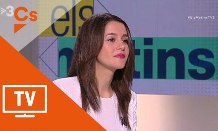 Inés Arrimadas desmonta sin despeinarse el insidioso interrogatorio del 'Torquemada' separatista Vicent Sanchís