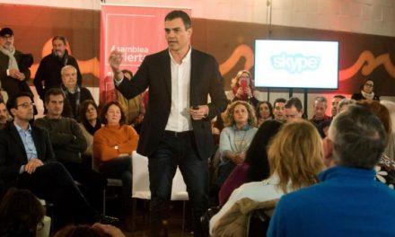 """Sánchez avisa de que el sistema de pensiones """"se va al garete"""" y llama a la movilización"""