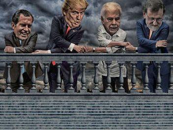 Rajoy en la escalinata de Spielberg