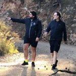 Rajoy y Miras, de caminata por el Monte de las Cenizas antes de asistir a una boda