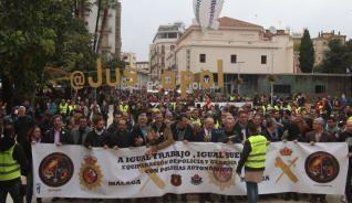 Málaga se vuelca con Jusapol por una equiparación salarial «real»