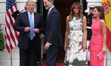 Trump asegura ante los Reyes que la relación con España es «especialmente sobresaliente ahora»