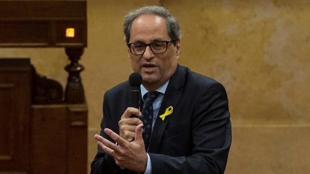 Quim Torra se da un baño de realidad diplomática en el consulado de los Estados Unidos en Barcelona