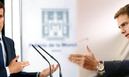 Casado y Rivera se lanzan a la batalla por el control del centro derecha