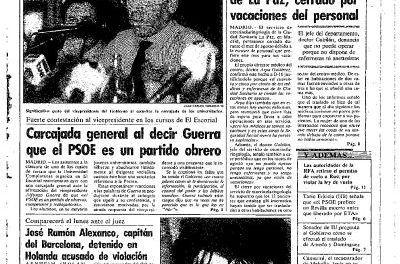 «Carcajada general al decir Guerra que el PSOE es un partido obrero»