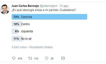 """El exrival de Rivera en las primarias hace una encuesta en Twitter sobre la ideología de Ciudadanos y termina """"preocupado"""" por el resultado"""