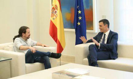 Sánchez e Iglesias acuerdan una batería de medidas para la legislatura