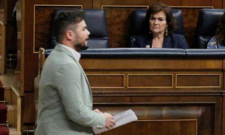 """División en el soberanismo: Gabriel Rufián advierte a Quim Torra de que """"los ultimátums los carga el diablo"""""""