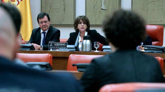 La ministra Delgado entra en la batalla de a qué Gobierno sirvió más el comisario Villarejo