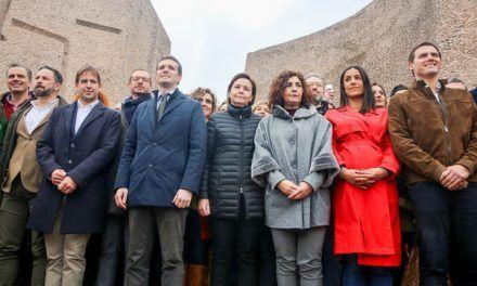 La derecha reúne en Madrid a 50.000 personas para exigir la marcha de Sánchez
