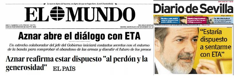 """Cuando Aznar, Mayor Oreja y el PP querían ser """"generosos"""" con ETA y cambiar la política penitenciaria"""