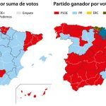 La división del centro-derecha daría la victoria al PSOE en 29 provincias