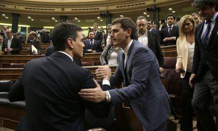 Rivera hará presidente a Sánchez