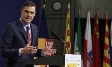 """Pedro Sánchez: """"La norma laboral debe alcanzar a las nuevas formas de empleo"""""""