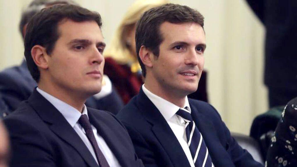 Rivera resucita a Casado: PP y Ciudadanos sientan las bases de 'España suma'