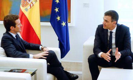 Pablo Casado ofrece a Sánchez apoyar el presupuesto 2020 si no sube impuestos