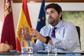 López Miras: «Murcia no ha sido ningún laboratorio, sino ejemplo para España»