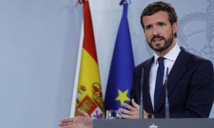 Casado frena presiones en el PP para romper ya con Sánchez por su inacción ante Torra