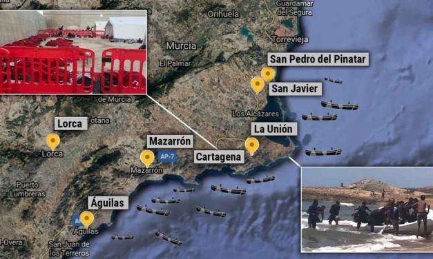 Murcia lanza un SOS ante la ola de pateras, pero sus pueblos se niegan a ceder espacios a inmigrantes
