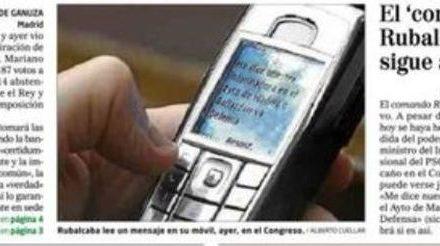 Cuando los partidos rechazaron en el Congreso que se publicase un mensaje del móvil de Rubalcaba