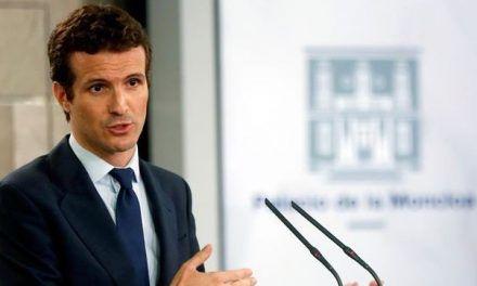 Casado advierte de que «la crispación en Cataluña empieza a dar miedo»