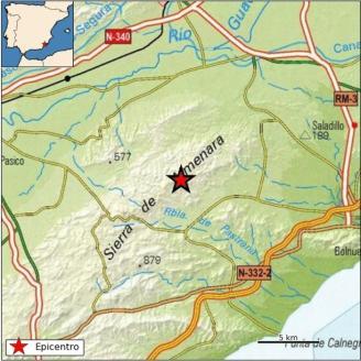 Dos terremotos de 2,6 y 2 grados se dejan sentir en Mazarrón, Lorca y Totana